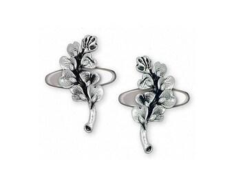 Bluebonnet Cufflinks Jewelry Sterling Silver Handmade Texas Wildflower Cufflinks BB6-CL