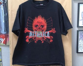Vintage 90's Metallica Shirt 1997 Pushead Rebel Promo GIANT tag Double Sided