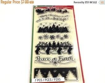 Inkadinkado Clear Acrylic Stamp Set - HOLIDAY SILOUETTE Christmas cc22