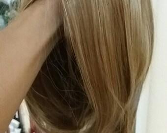 bonde wig blonde mix short bob wigs
