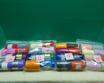 PRETTY PUNCH Loop Embroidery Spool Yarn 4 Packages of 8 Colors Vintage One Half or More Full  Mary's Neat Knits & Kits