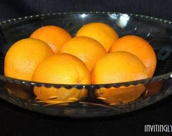 Large Glass Serving Bowl / Fruit Bowl / Centerpiece Bowl / Wedding Serving Bowl / Salad Bowl / Punch Bowl / Pasta Bowl / Vintage Kitchen