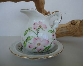 Lefton China Miniature Pitcher & Bowl