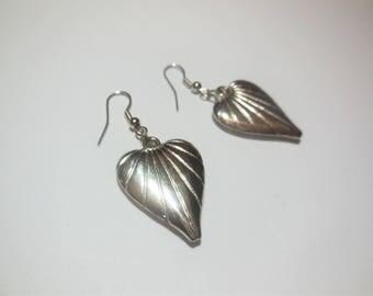 Earrings Hearts Dangle Earrings Silver Tone Metal Vintage Jewelry Women's Fashion Accessories Casual Style