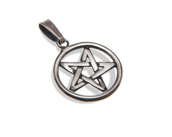 Handmade, Recycled Argentium Sterling Silver Inverted Pentagram
