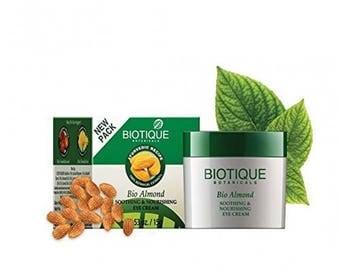 Biotique Almond under Eye Cream for Dark Circles & Puffiness