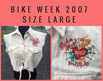 Biker Design Cropped Vest