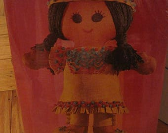 "1970 Sealed Springbok ""Little Princess"" Native American Doll Craft Kit 16-1/2"""
