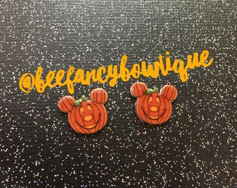 Pumpkin Mickey Earrings