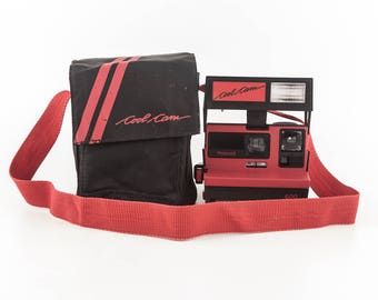 Polaroid 600 Cool Cam Black and Red body Instant Camera with Soft Case - Tested and Working Uses Polaroid Originals 600 film