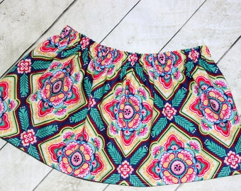 Skirt for girls Whimsical rainbow skirt Spring skirt Fall skirt Back to school skirt Easter Skirt Birthday Size 2t 3t 4t 5 6 7 8 10 12 girl