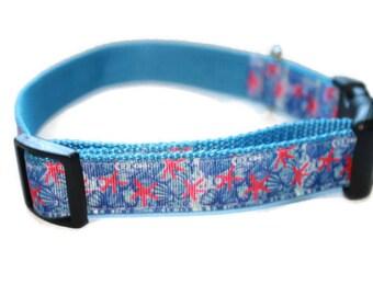 Lilly Pulitzer Inspied Starfish Dog Collar