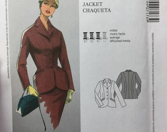 UNCUT Burda Pattern 7173 - Retro Style Women's Fitted Jacket -  Pattern for Sizes 10-18 (36-44 Euro)