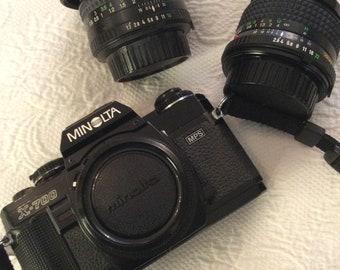 Minolta X 700 Camera , 2 Lens, Film Camera