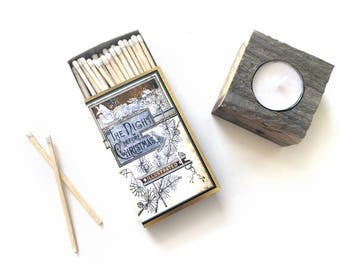 Night Before Christmas Large Matchbox. Fireplace / Mantle Accent. Christmas Matches. Stocking Stuffer. Cozy Winter Home Decor. Holiday Gift.