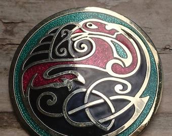 Celtic sea gems enamel brooch