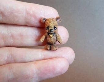 "OOAK Micro Miniature Bear ""Drew"" ~ Artist Handmade Bear By Michele Roy"