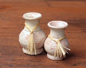 Mediterranean Set of Miniature Crocks for Your Dollhouse