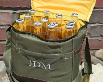 Personalized Cooler-Insulated Cooler-Bottle Cooler-Cooler Bags-Monogrammed-Weddings-Groomsmen Gifts