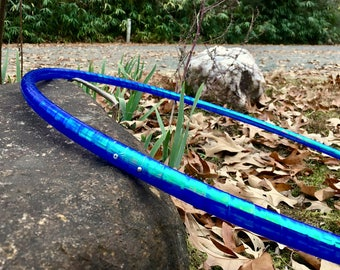 """Translucent Blue Aquatic Taped Hula Hoop - 5/8"""" or 3/4"""" Polypro tubing -  made to order - super fast shipping -"""