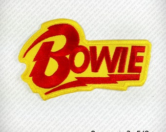 David Bowie Embroidered Patch Iron on D.I.Y Decorate Clothes Vest Jacket Coat Hat Gap T Shirt Funny Hobby Design Fashion Variety