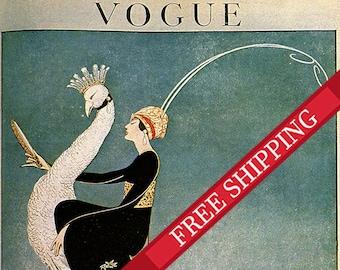 Vogue Magazine Cover -  Fashion Illustration Vogue Poster -  8.5 x 11.8 inches
