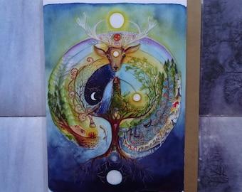 Deer Medicine A5 Art Card
