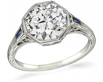 Vintage 2.39ct Diamond Engagement Ring