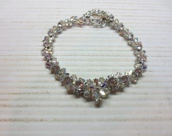 Gorgeous High End Aurora Borealis Choker Necklace Wedding Necklace