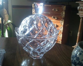 Large Crystal Covered Candy Dish...Free Shipping!