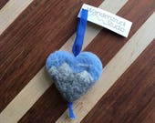 Alpine Mountains Ornament - Handcrafted, Felted Wool Heart with Backcountry Landscape for Gift or Christmas Tree