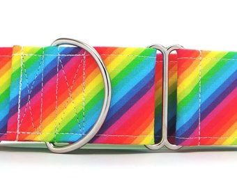 Every Color Stripes Dog Collar (Martingale, Buckle or Tag)