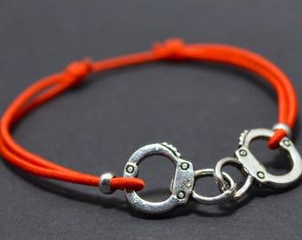 Bracelet red handcuff