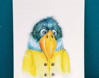 Autumn bird (1 post card)