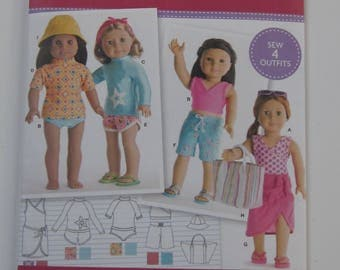 "18"" Doll Clothes Pattern Simplicity #8190"