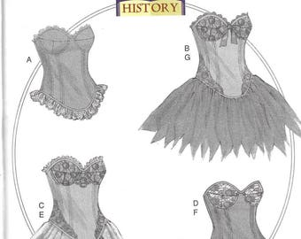 Butterick Making History Pattern 6338 CURVED Hem CORSETS & SKIRTS Misses 6 8 10 12 14