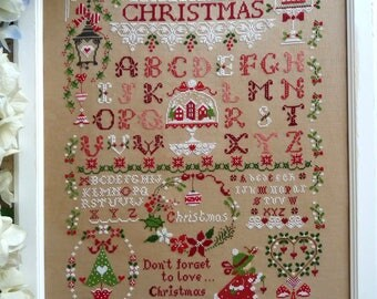 Schema Christmas Sampler (comprendente scritte in inglese, italiano e francese)- Formato cartaceo o PDF