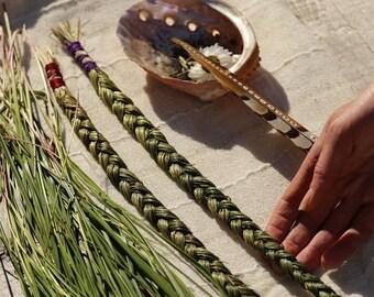 Sweetgrass braid (1) Homegrown Organic Native Prayer Incense // Purification // Ritual // Ceremonial // Spirit Offering