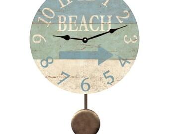 Beach Arrow Pendulum Clock