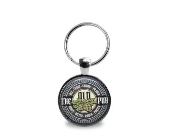 Vintage Pub Key Chain or Pendant