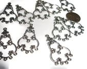 Chandelier link small link earring link supply links silver links fancy earring chandelier link floral links destash supply links 10ct
