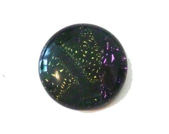 Handcrafted 20mm Dichroic Glass Cabochon.        ..