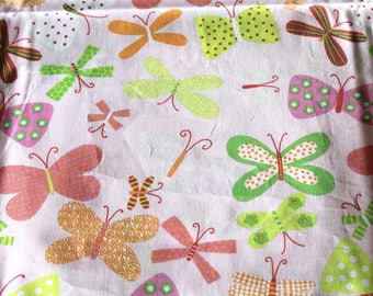 Coupon fabric girl 50 x 70 cm butterflies