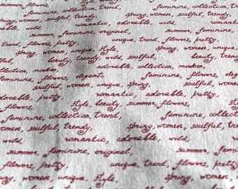 Fabric upholstery 50x70cm writing