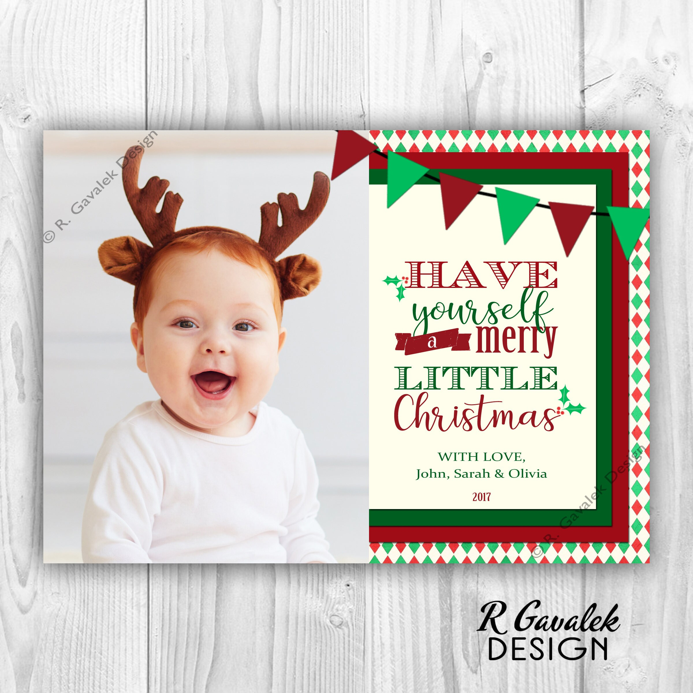 Merry little christmas card photo holiday card diy printable merry little christmas card photo holiday card diy printable christmas card have yourself solutioingenieria Gallery