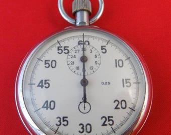 Military stopwatch chronometer AGAT Soviet USSR mechanical function k432