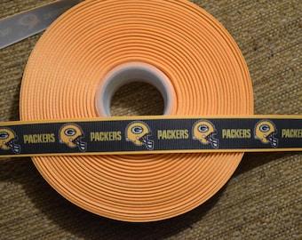 "Green Bay Packers 7/8"" Grosgrain Ribbon"