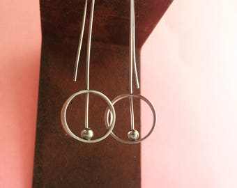 Geometrical Silver earrings