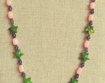 Handmade Green Star Necklace