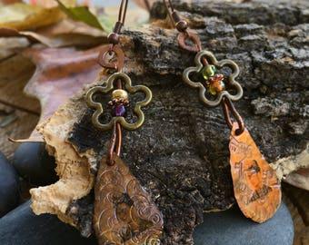 Frida copper earrings